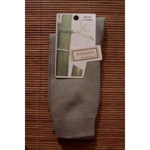 Chaussettes en bambou de Ville (2 paires) - taupe