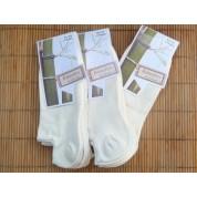 Chaussettes en bambou Invisibles écrues (3 paires) - 35/38