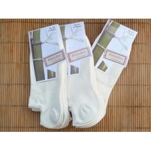Chaussettes en bambou Invisibles écrues (3 paires) - 42/45