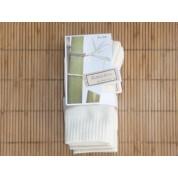 Chaussettes en bambou Rando/travail enfant 31/34 (2 paires) - écru