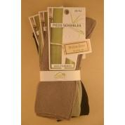 Chaussettes en bambou jambes sensibles (3 paires) - noir, vert, taupe