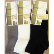 socquettes en bambou ( 3 paires ): noir- ecru-taupe