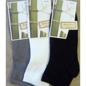 socquettes en bambou ( 3 paires ) : gris-ecru-indigo